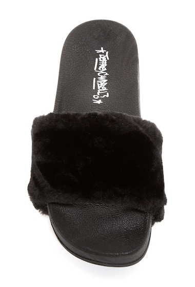 Incaltaminte Femei Jeffrey Campbell Lucky Me Faux Fur Platform Side Sandal BLKMNK CMB