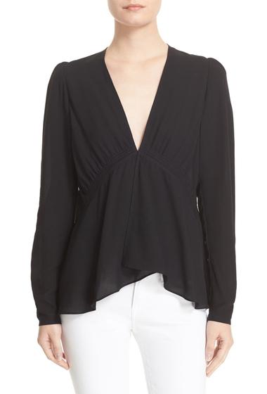 Imbracaminte Femei ALC Loren Drape Silk Top BLACK