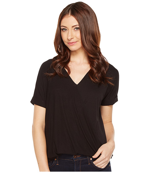 Imbracaminte Femei Culture Phit Megan Crossover Short Sleeve Top Black