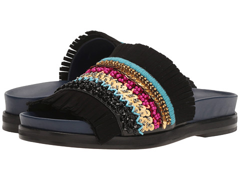 Incaltaminte Femei Tory Burch Isle Slide BlackMulticolor