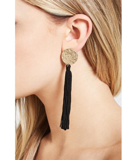 Bijuterii Femei Forever21 Tassel Drop Earrings Blackgold