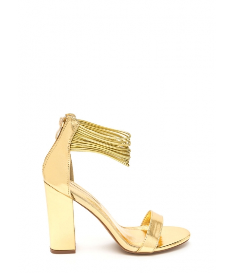 Incaltaminte Femei CheapChic Cord Progression Chunky Metallic Heels Gold
