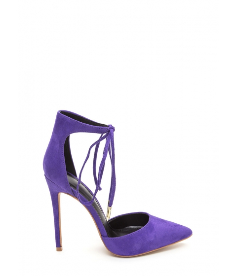 Incaltaminte Femei CheapChic Point In The Right Lace-up Heels Purple