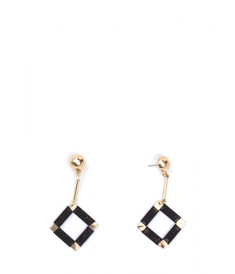 Bijuterii Femei CheapChic Squared Off Wrapped Earrings Goldblack