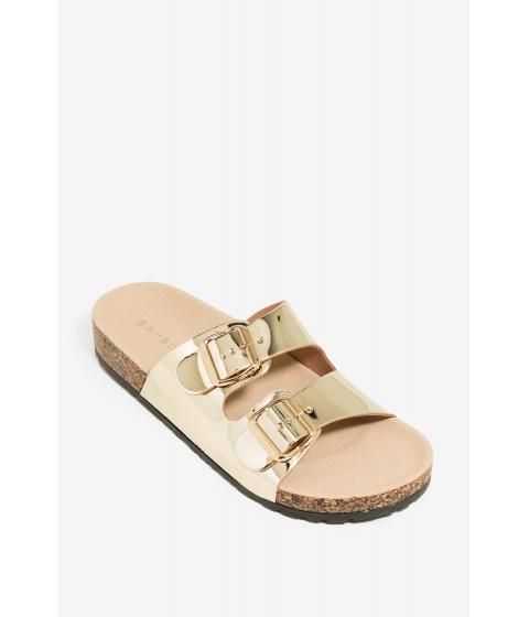 Incaltaminte Femei CheapChic Get In Line Sandal Metallic Gold
