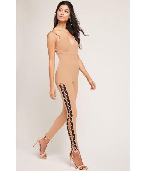 Imbracaminte Femei Forever21 Lace-Up Jumpsuit Nude