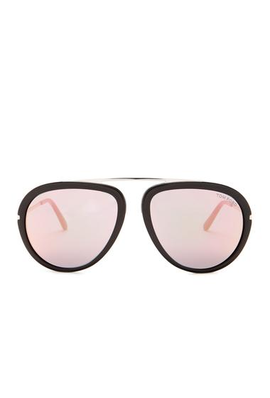 Ochelari Barbati Tom Ford Womens Stacy Aviator Sunglasses SBLK-VIOLMR
