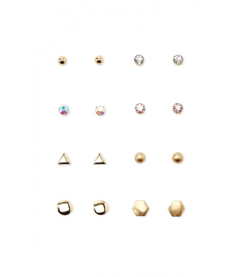 Bijuterii Femei Forever21 Geo Stud Earring Set Gold