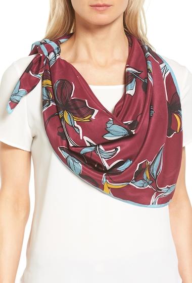 Accesorii Femei Halogen Botanical Silk Scarf BURGUNDY COMBO