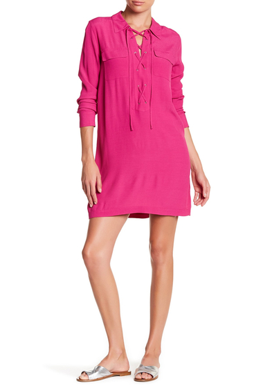 Imbracaminte Femei 1State Lace-Up Shirtdress FUSCHIA PO