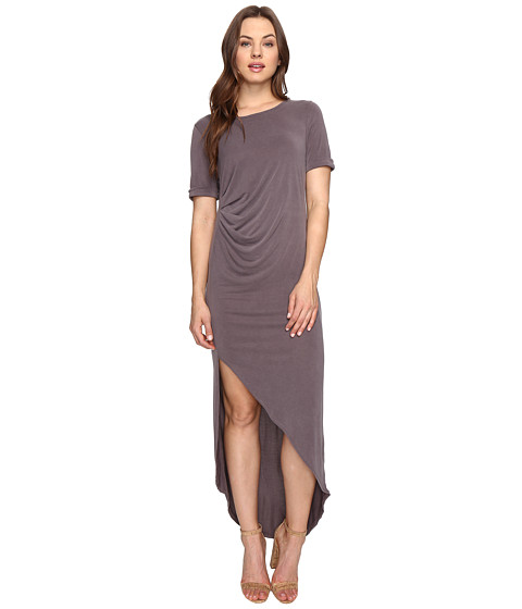 Imbracaminte Femei Culture Phit Ines Short Sleeve Dress with Ruched Side Dusty Plum