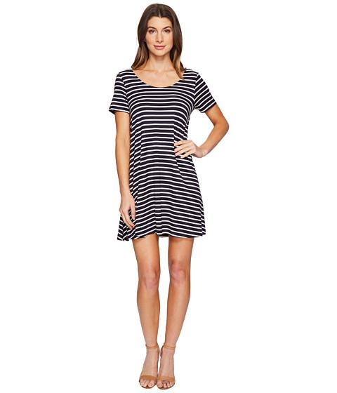 Imbracaminte Femei Culture Phit Lea Short Sleeve Striped Dress NavyIvory