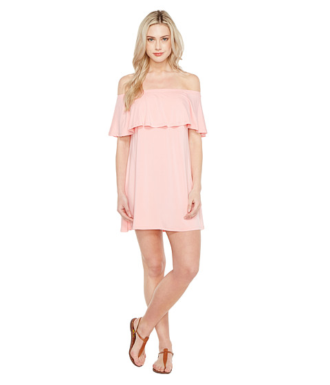 Imbracaminte Femei Culture Phit Summer Off the Shoulder Ruffle Dress Pink