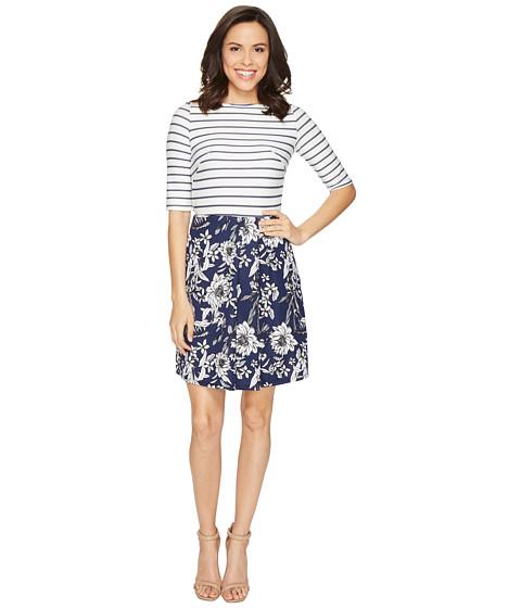 Imbracaminte Femei Christin Michaels Anya 34 Sleeve Stripe Top Dress IvoryNavy