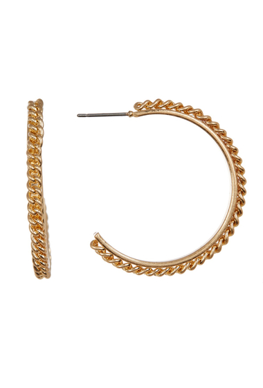 Bijuterii Femei Melrose and Market 35mm Chain Edge Hoop Earrings GOLD