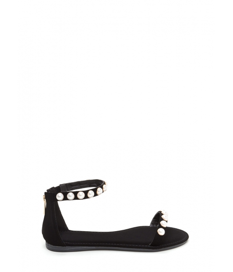 Incaltaminte Femei CheapChic Jewel Box Strappy Faux Nubuck Sandals Black