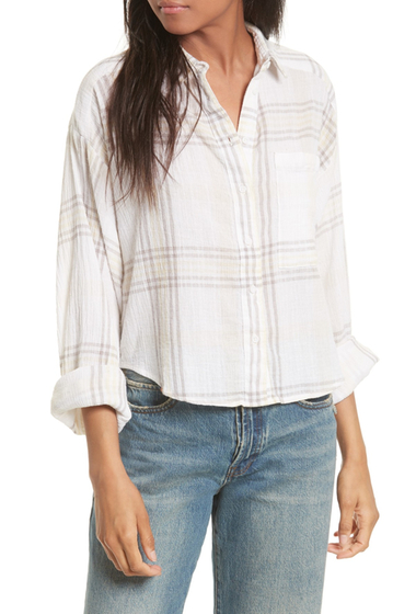 Imbracaminte Femei Free People Cutie Plaid Button Down Shirt IVORY