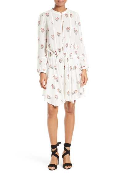 Imbracaminte Femei ALC Dasha Print Silk Dress WHITEPEAC
