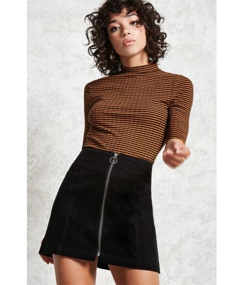 Imbracaminte Femei Forever21 A-Line Curduroy Skirt Black