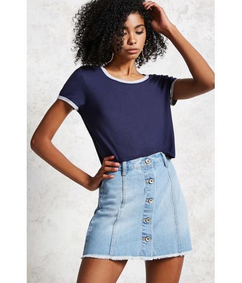 Imbracaminte Femei Forever21 Button Denim Mini Skirt Light denim