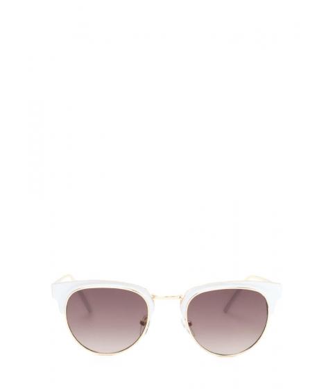 Accesorii Femei CheapChic Vintage Queen Brow Bar Sunglasses Whitegold