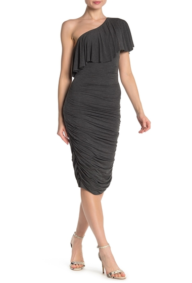 Imbracaminte Femei Bailey 44 Roomba One-Shoulder Ruched Dress ANTHRACITE