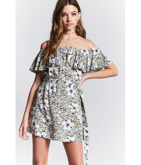 Imbracaminte Femei Forever21 Contemporary Floral Dress Limeblack