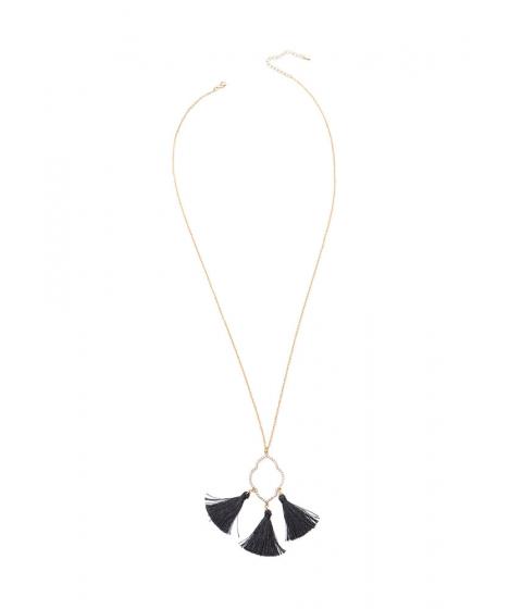 Bijuterii Femei CheapChic Three Thinker Long Tasseled Necklace Blackgold