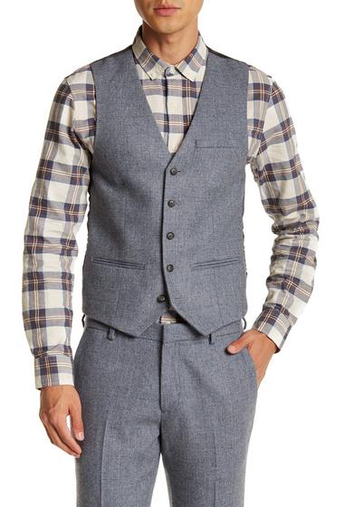 Imbracaminte Barbati TOPMAN Blue Daytona Five Button Extra Trim Waistcoat BLUE