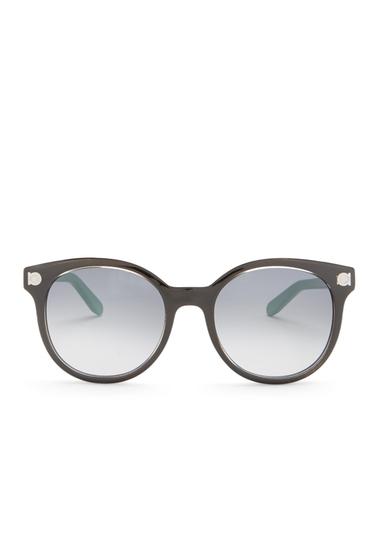 Ochelari Femei Salvatore Ferragamo Womens Round Acetate Sunglasses CRYSTAL BLACK
