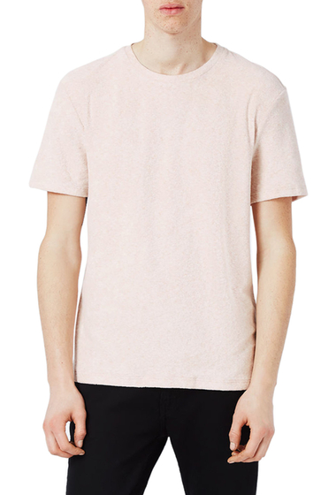 Imbracaminte Barbati TOPMAN Terry Cloth T-Shirt PEACH