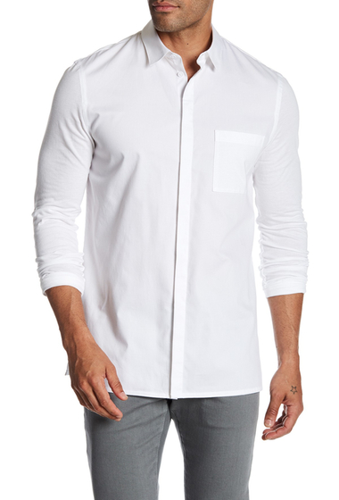 Imbracaminte Barbati Helmut Lang Mixed Combo Pocket Shirt OPTIC WHT
