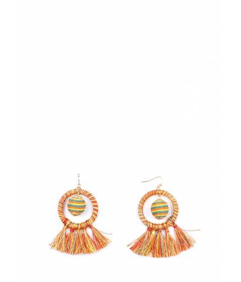 Bijuterii Femei CheapChic New Party Threads Ball Tassel Earrings Multi