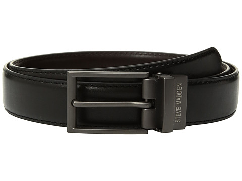 Accesorii Barbati Steve Madden 32mm Smooth Reversible Belt BlackBrown