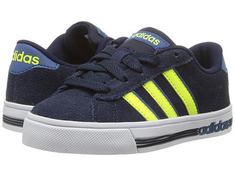 Incaltaminte Fete adidas Kids Daily (Little KidBig Kid) Collegiate NavySolar YellowCore Blue