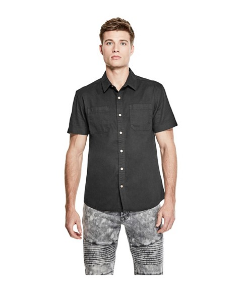 Imbracaminte Barbati GUESS Park Twill Shirt jet black