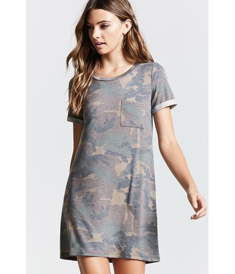 Imbracaminte Femei Forever21 Pocket Camo T-Shirt Dress Olivetan