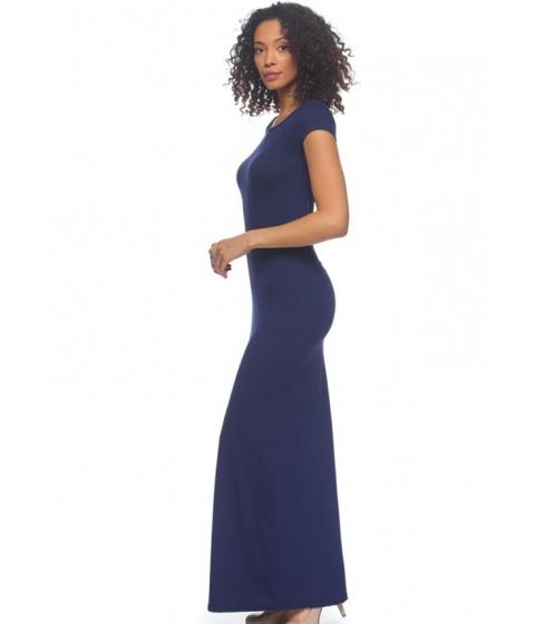 Imbracaminte Femei CheapChic Casual Navy Cap Sleeve Maxi Dress Multicolor