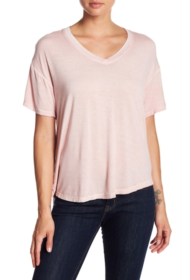 Imbracaminte Femei Abound Washed V-Neck Tee PINK SILVER