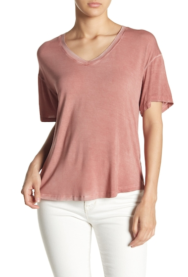 Imbracaminte Femei Abound Washed V-Neck Tee RUST MARSALA