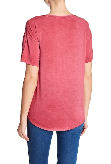 Imbracaminte Femei Abound Washed V-Neck Hi-Lo Tee RED RUMBA