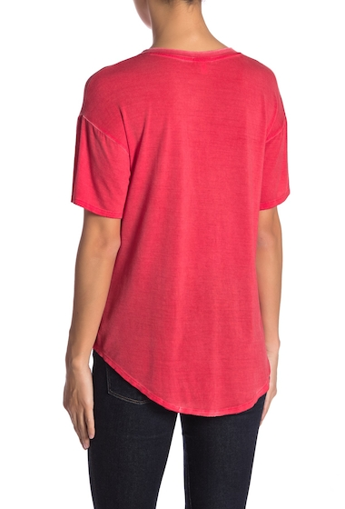 Imbracaminte Femei Abound Washed V-Neck Hi-Lo Tee RED CHINOISE