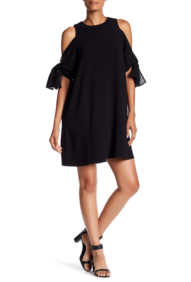 Imbracaminte Femei Charles Henry Cold Shoulder Shift Dress BLACK