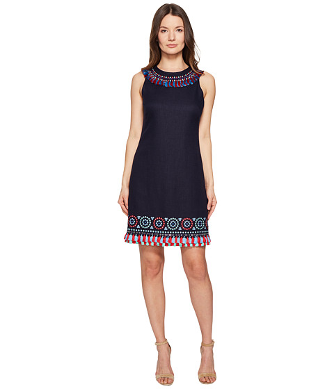 Imbracaminte Femei Kate Spade New York Full Plume Embroidered Tassel Dress Rich Navy