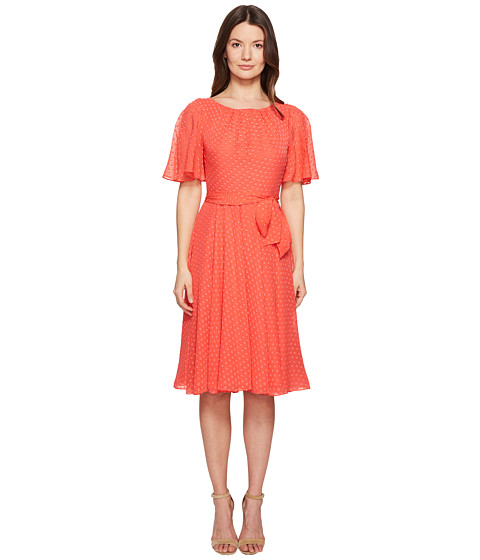 Imbracaminte Femei Kate Spade New York Spice Things Up Clipped Chiffon Dress Paprika