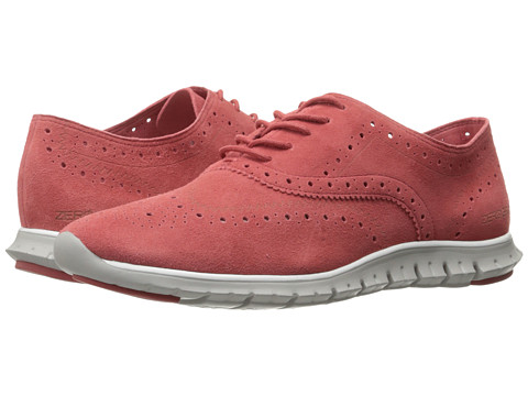 Incaltaminte Femei Cole Haan Zerogrand Wing Ox Open Hole New Mineral Red Open Hole SuedeVapor Grey