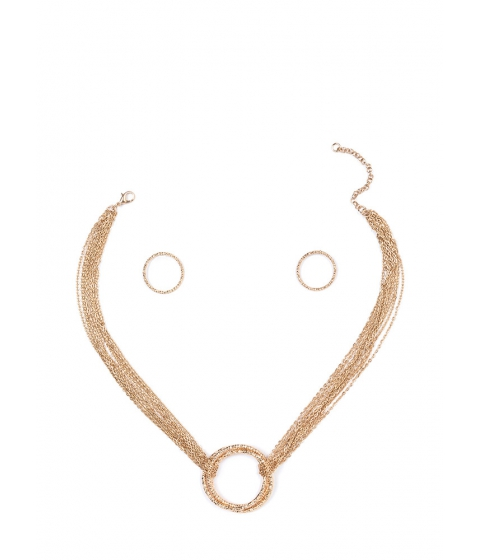 Bijuterii Femei CheapChic Ring It On Shiny Chain Necklace Set Gold