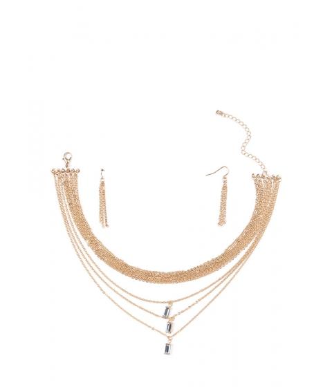 Bijuterii Femei CheapChic Triple Time Jeweled Layered Necklace Gold