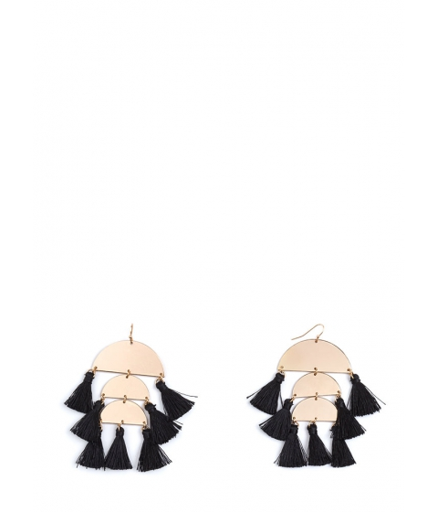 Bijuterii Femei CheapChic Boho Charm Tasseled Crescent Earrings Blackgold