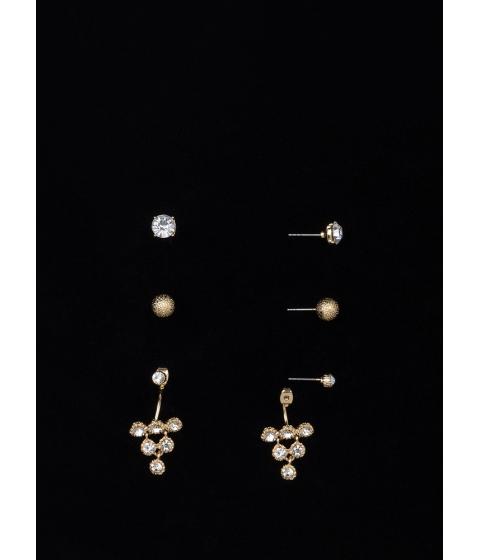 Bijuterii Femei CheapChic Triangle It On Sparkly Earring Set Gold